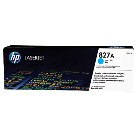 HP 827A Cyan LaserJet Toner Cartridge, голубой (CF301A)