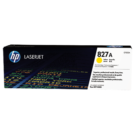 HP 827A Yellow LaserJet Toner Cartridge, желтый (CF302A)