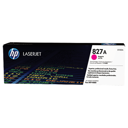 HP 827A Magenta LaserJet Toner Cartridge, пурпурный (CF303A)