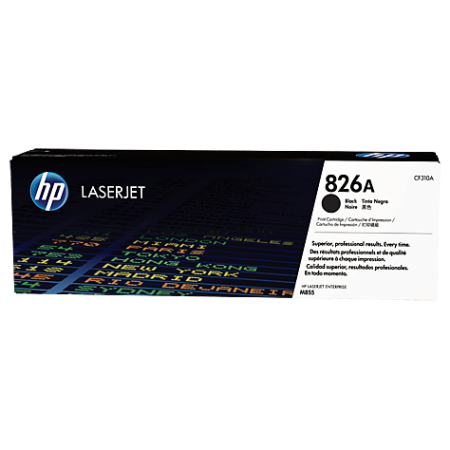 HP 826A Black LaserJet Toner Cartridge, черный CF310A