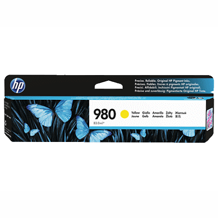 HP 980 Yellow Original Ink Cartridge, желтый, 6600 стр (D8J09A)
