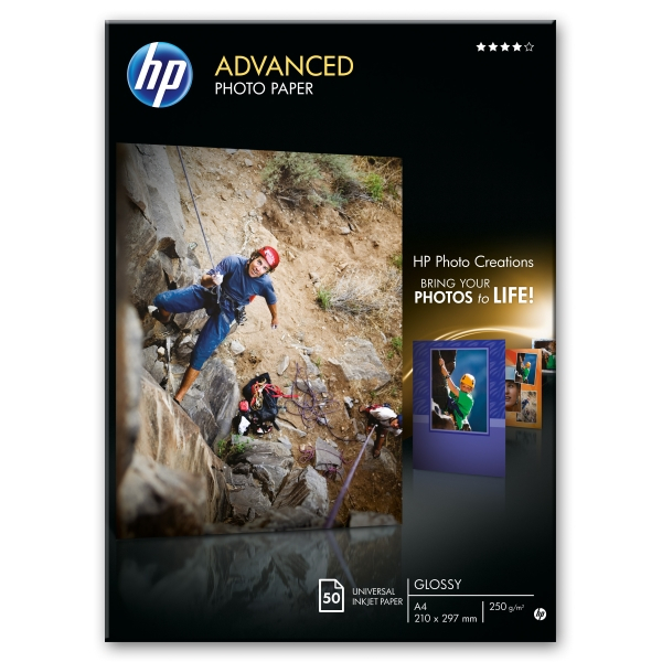 Бумага HP Advanced Glossy Photo Paper-50 sht/A4/210 x 297 mm (Q8698A)