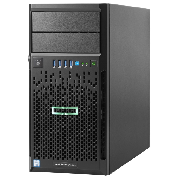 1 Процессорный сервер HPE ProLiant ML30 Gen9 Hot Plug Tower 4U/ Xeon4C E3-1220v5/ 8GB 831068-425
