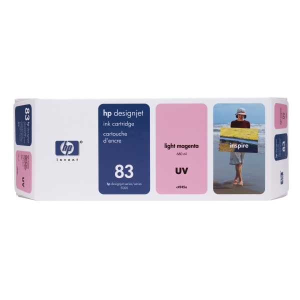 Картридж HP 83, Светло-пурпурный 680-ml Light Magenta UV Ink Cartridge (C4945A)