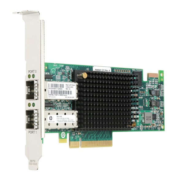 Двухпортовый HBA-адаптер HP StoreFabric SN1100E 16 ГБ Fibre Channel, C8R39A